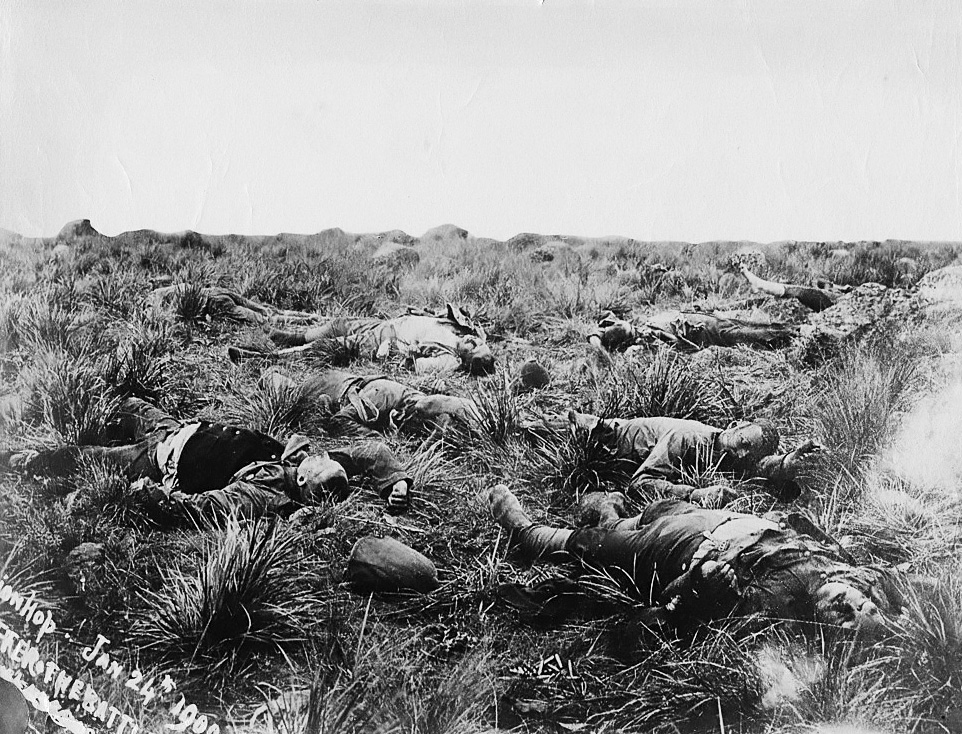 British_casualties,_Spionkop,_1900